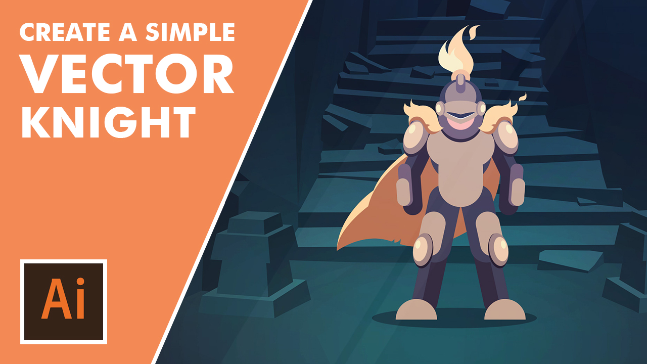 Adobe Illustrator CC Tutorial: Learn to Build a Vector Knight Character