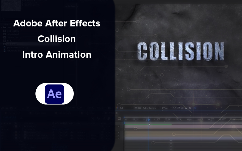 Adobe After Effects Collision Intro Animation