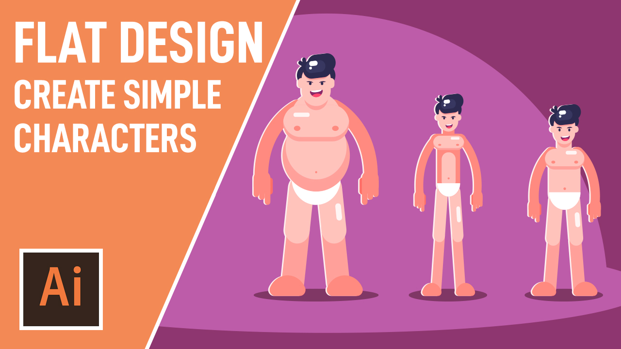 Adobe Illustrator CC Course: Create Simple Flat Vector Characters