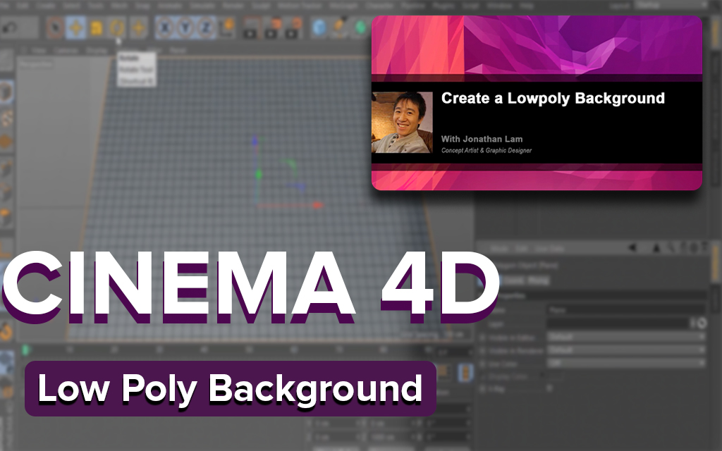 Create a Low Poly Background Using Cinema 4D