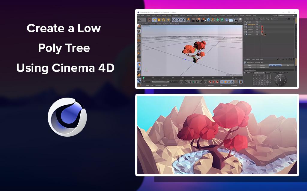 Create a Low Poly Tree Using Cinema 4D