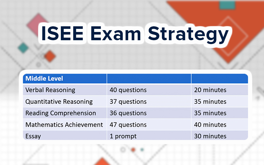 Middle Level ISEE Exam Strategy
