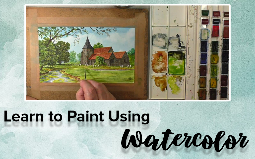Learn to Paint  Scotney Castle in Kent, England Using Watercolor