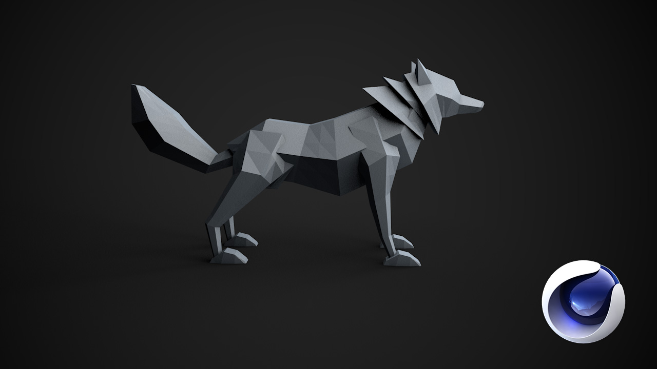 Create a Low Poly Wolf Using Cinema 4D
